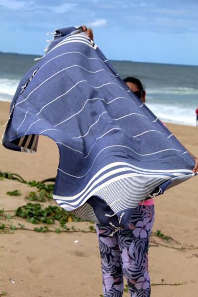 Denim blue Beach Towel